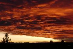 Sonnenuntergang bei Ebersberg